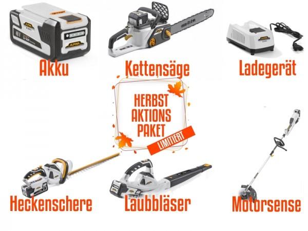Alpina 48 V Akku Set 5 - T 3548 Li - H 5648 Li - BL 548 Li - C 1648 Li Inkl. Akku und Ladegerät