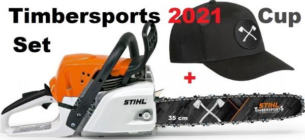 STIHL Motorsäge MS 231- 35cm -Timbersports® WM 2021 inkl. Cap