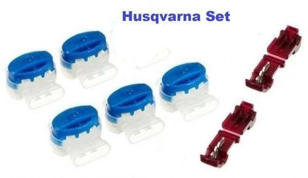 Husqvarna Automower 5 Stk Kabelverbinder + 2 Anschlußklenmen