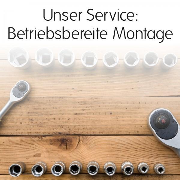 Betriebsbereite Montage Seitenauswurf & Frontmulcher